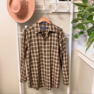 Pendleton Mens Wool Button Down Shirt